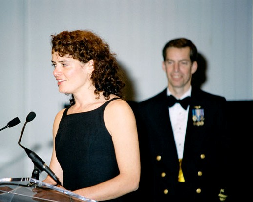 Julie Payette and James Wetherbee